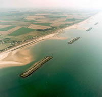 Aerial photograph of the North Norfolk coast