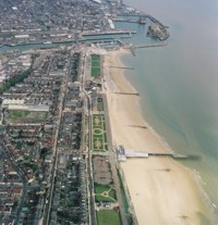 Aerial photograph of the Lowestoft South Beach
